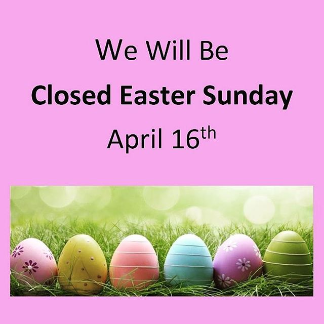 Happy Easter everyone! We're closed today but will be open again about noonish on Tuesday!