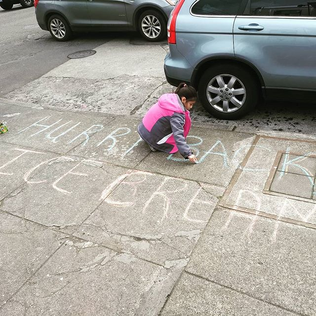 Thanks to Cecilia from @matt_and_memeres for the fantastic sidewalk artwork! Sales are already through the roof with this nano-targeted exposure to our specific sociogeographic demographic. That's what the marketing department says... #sellwoodicecream #sellwood #sellwoodfoodcarts #sellwoodfoodcart #pdxeats #pdxfood #pdxfoodcart #sidewalkchalk #pdxsidewalkart #notsaltandstraw #pdxfoodie